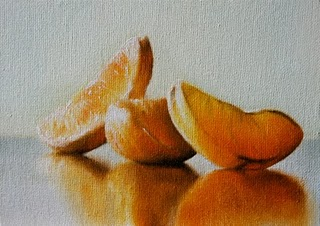 """Oranges"" original fine art by Jonathan Aller"