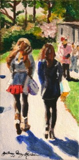 """Strolling through Golden Gate Park"" original fine art by Joanne Perez Robinson"