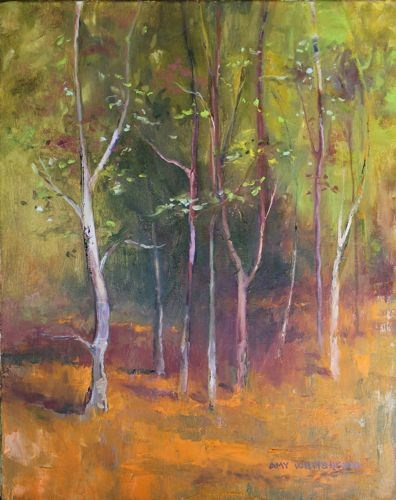 """Storybook Forest Landscape Paintings by Arizona Artist Amy Whitehouse"" original fine art by Amy Whitehouse"