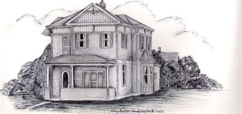 """Palmer House in Baker City"" original fine art by Amy VanGaasbeck"
