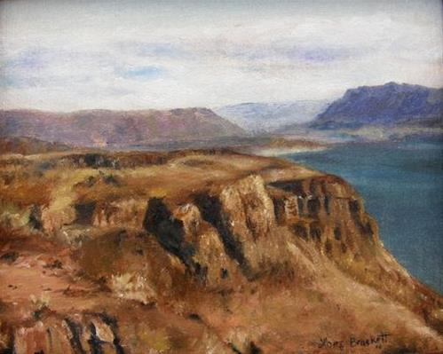 """Columbia River Gorge I"" original fine art by Lori Brackett"