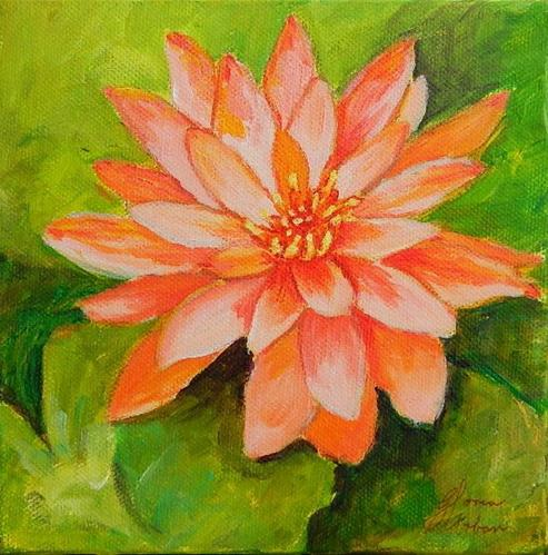 """Water Lily"" original fine art by Gloria Urban"