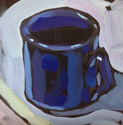 """Table Edge Mug"" original fine art by Kat Corrigan"