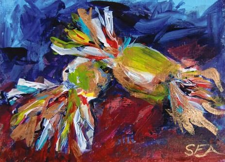 """3002 - SWEETNESS ACEO"" original fine art by Sea Dean"