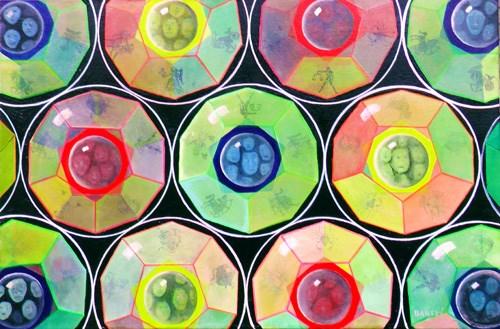 """""""Dudexahedron"""" original fine art by Janice Bartke Thompson"""