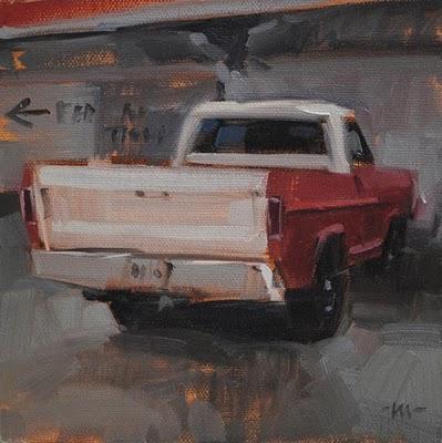"""""""Old Ford"""" original fine art by Carol Marine"""