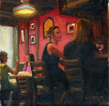"""Six at the Sevens"" original fine art by Kathy Weber"