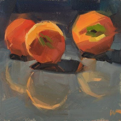 """Texas Peaches --- SOLD"" original fine art by Carol Marine"