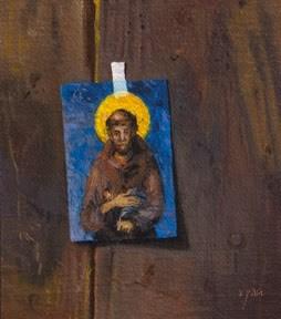 """Saint Francis of Assisi Postcard  (+ Peto Museum Workshop update)"" original fine art by Abbey Ryan"