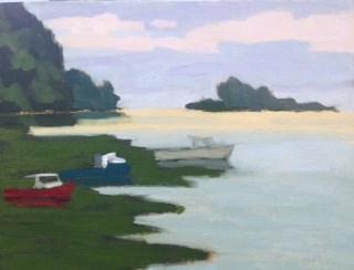 """Rockport Harbor"" original fine art by Bobbi Heath"