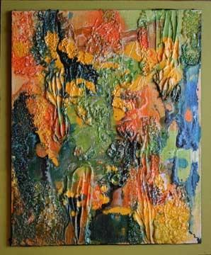 """Geo Abstract 4"" original fine art by Kara Butler English"