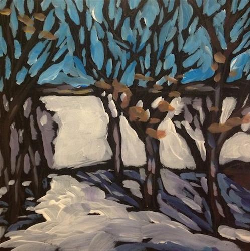 """White Bear Back Yard"" original fine art by Kat Corrigan"