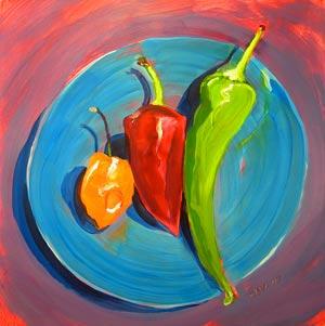 """Salsa 9"" original fine art by Pam Van Londen"