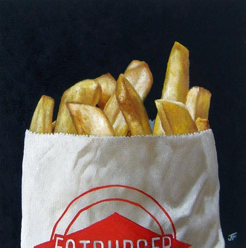 """Study: Fat Fries"" original fine art by Jelaine Faunce"