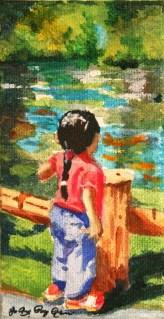 """""""Little Old Soul"""" original fine art by JoAnne Perez Robinson"""
