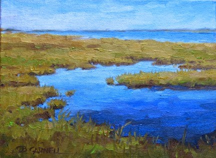"""'September Marshes' An Original Oil Painting by Claire Beadon Carnell 30 Paintings in 30 Days Challe"" original fine art by Claire Beadon Carnell"