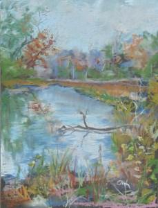 """Betts Bottom Creek"" original fine art by Catherine Kauffman"