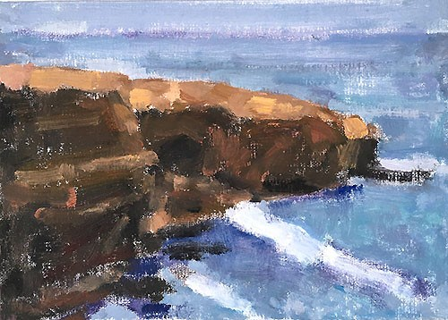 """Gray Skies, Sunset Cliffs"" original fine art by Kevin Inman"