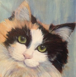 """Lindsey's Cats - Callie"" original fine art by Lyn Gill"