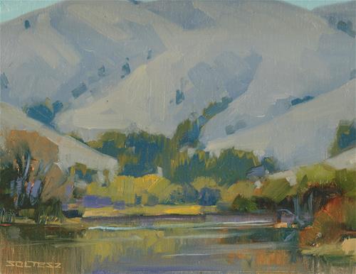 """Winter reflections"" original fine art by J. Thomas soltesz"