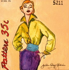 """Vintage Fifties Gal"" original fine art by JoAnne Perez Robinson"