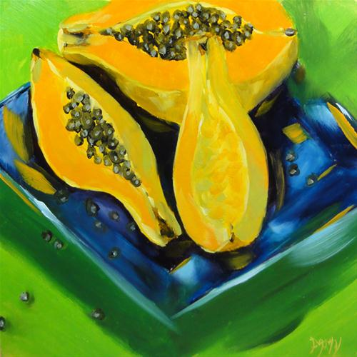 """Papaya Split Complimentary"" original fine art by Dalan Wells"