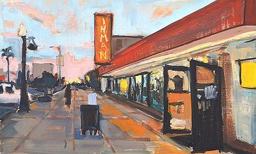 """Liquor Store, Hillcrest"" original fine art by Kevin Inman"