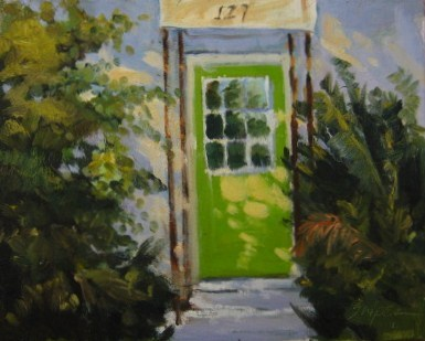 """The Green Door"" original fine art by Connie Snipes"