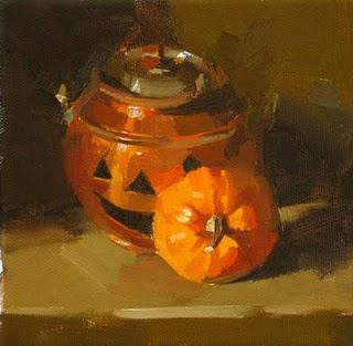 """Happy Halloween"" original fine art by Qiang Huang"