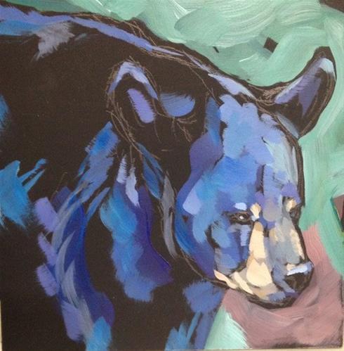 """""""Bear-y Shiny"""" original fine art by Kat Corrigan"""