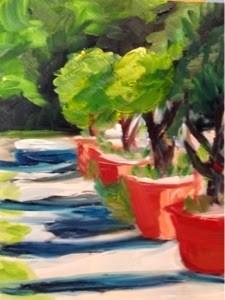 """""""Walk in the Park"""" original fine art by Debra Kennedy"""