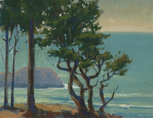 """""""Lands End"""" original fine art by J. Thomas soltesz"""