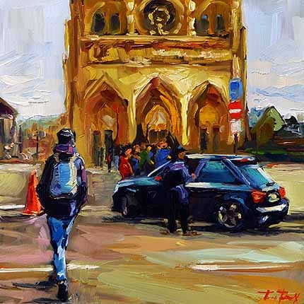 """Notre-Dame"" original fine art by Jurij Frey"