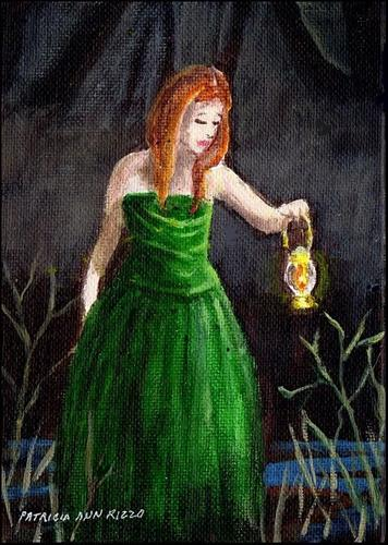 """Girl in the Green Gown"" original fine art by Patricia Ann Rizzo"