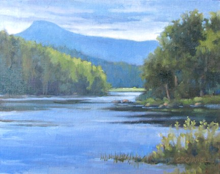 """CATSKILL BLUESAn Original Plein Air Oil Painting by Claire Beadon Carnell"" original fine art by Claire Beadon Carnell"