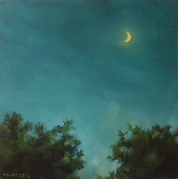 """Sunset Moon"" original fine art by Michael Naples"
