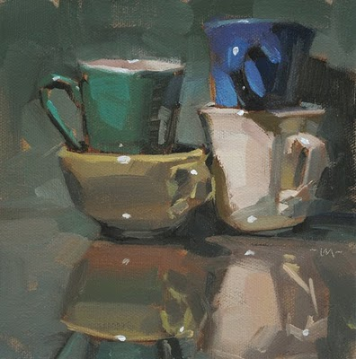 """Cup Ride"" original fine art by Carol Marine"