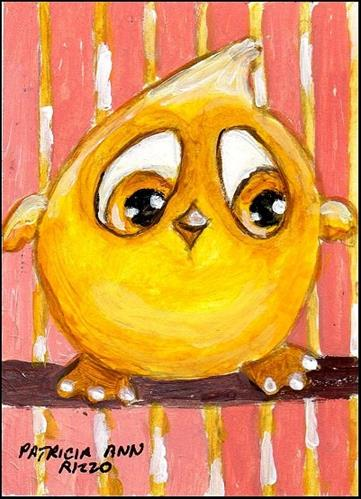 """Little Canary"" original fine art by Patricia Ann Rizzo"