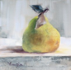 """still life with pear"" original fine art by Carrie Venezia"