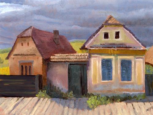"""Roumania"" original fine art by Nancy Herman"