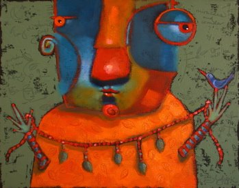 """""""Bird Wrangler"""" original fine art by Brenda York"""