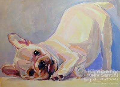 """Poppy Puppy, In Process"" original fine art by Kimberly Santini"