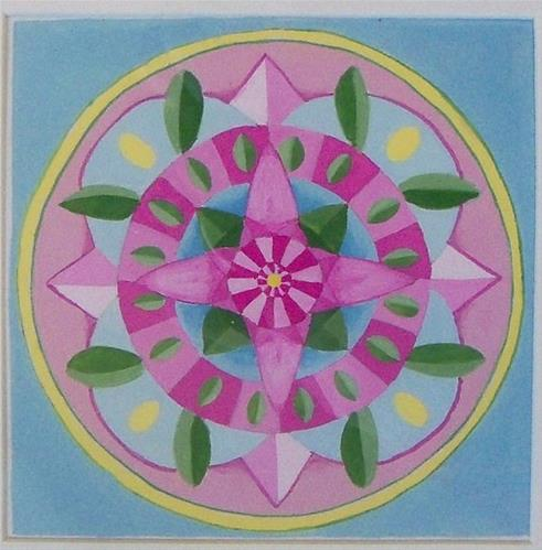 """Flower Mandala"" original fine art by Amy VanGaasbeck"