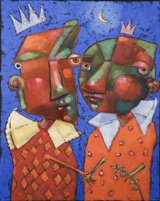 """Diamond Boys"" original fine art by Brenda York"
