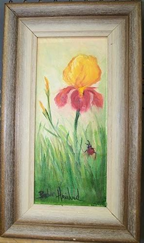 """Yellow Red Iris II"" original fine art by Barbara Haviland"