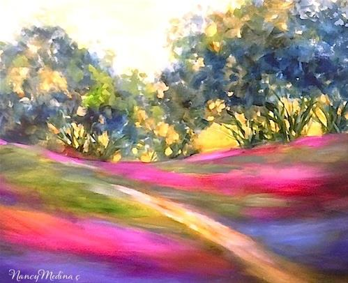 """Wild Summer Sunset by Nancy Medina"" original fine art by Nancy Medina"