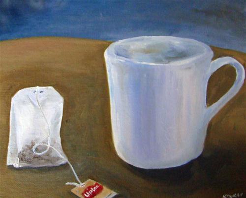 """""""tea"""" original fine art by Kristen Dukat"""