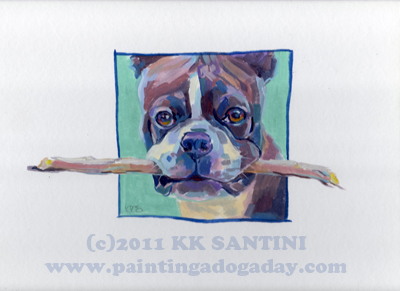 """Dougall's Stick"" original fine art by Kimberly Santini"