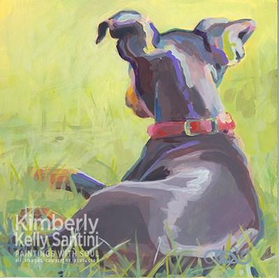 """""""Pinscher Butt"""" original fine art by Kimberly Santini"""