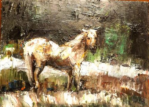 """HORSE"" original fine art by Run-      Zhang Zane"